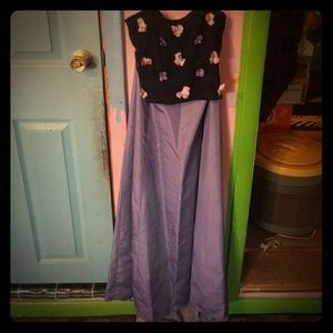 Formal Two Piece Dress Size 5 Purple and Black